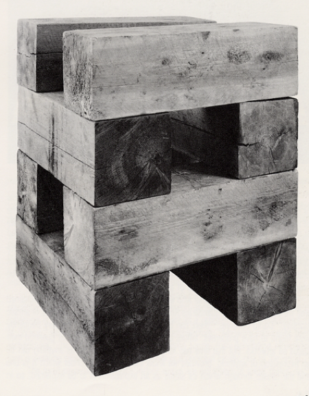 Carl Andre: Pyre (element series) (Foto: Kenneth Baker 1988)